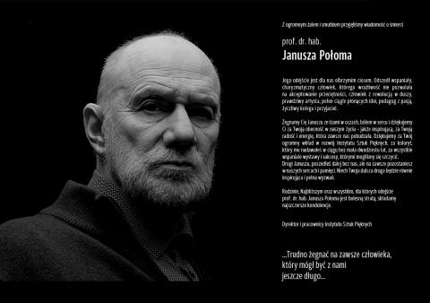 Odszedł prof. dr hab. Janusz Połom